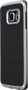 Schutzhülle Samsung S6 Edge Smartphone Handy Tasche Handyhülle schwarz silber