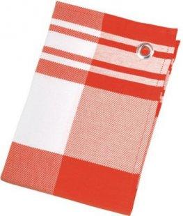 St. Barth Geschirrtuch Karo Dessins, 100% Baumwolle, 50x70cm, rot/weiß (1 Stück)
