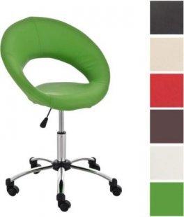 höhenverstellbarer Arbeitshocker RIO DE JANEIRO mit Rollen & Rückenlehne, Sitzhöhe 44 - 57 cm, aus bis zu 7 Farben wählen