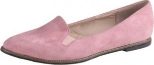 BESTELLE Mary Lyn Damen Slipper in Wildleder Optik, Rose