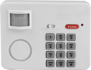 SECURE@HOME Hausalarm Bewegungsmelder mit Tastenfeld für Zahlencode