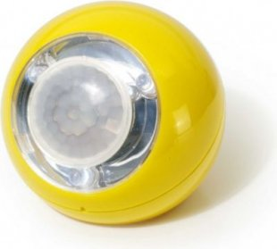 LED Lichtball mit Bewegungsmelder gelb
