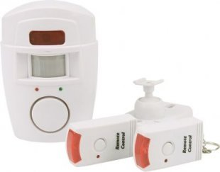 OLYMPIA BM 200 Bewegungsmelder mit Alarmfunktion, 2 Fernbedienungen, 105 db