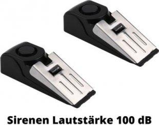 2 Stück T 300 Elektronischer Türstopper mit Alarm, 100 dB