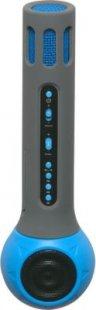 Denver Karaoke Mikrofon mit Lautsprecher blau