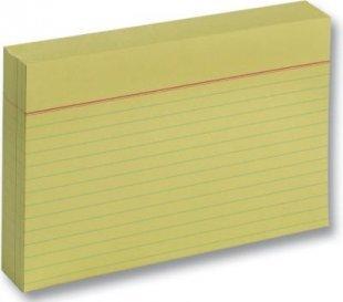 Karteikarten 190 g/m², DIN A6, liniert, 100 Stück, gelb