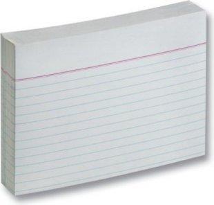 Folia Karteikarten 190 g/m², DIN A6, liniert, weiß (100 Stück)