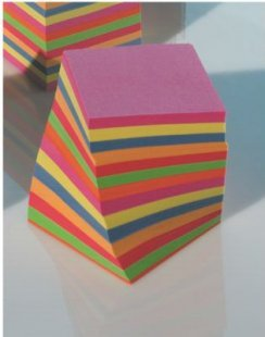 Folia Notizklotz, geleimt, 9 x 9 x 9 cm, intensivfarbig, mehrfarbig (1 Stück)