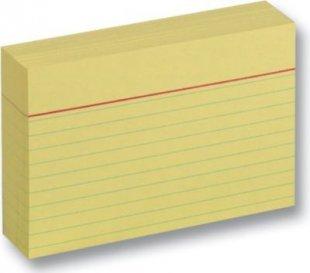 Karteikarten 190 g/m², DIN A7, liniert, 100 Stück, gelb