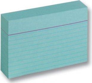 Folia Karteikarten 190 g/m², DIN A7, liniert, blau (100 Stück)