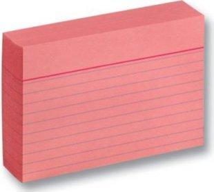 Folia 2011 Karteikarten 190 g/m², DIN A7, liniert, rosa (100er Pack)