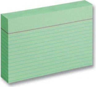 Karteikarten 190 g/m², DIN A6, liniert, 100 Stück, grün