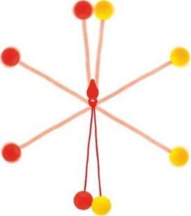 EDUPLAY 130-143 Klickerball Kugel Stoßspiel, mehrfarbig (1 Stück)