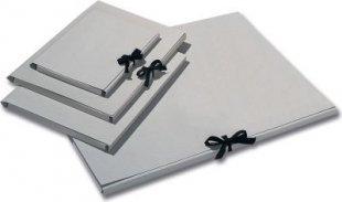 folia 6902 Sammelmappe, Graupappe 500g/m², DIN A4, mit Band, grau (1 Stück)