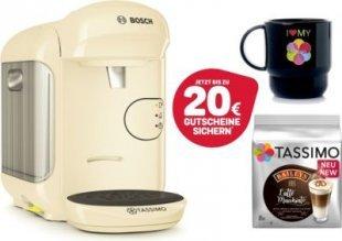 Bosch TASSIMO VIVY 2 + T-Discs Baileys + Tupper Becher Bosch Tassimo Vivy 2 + 1x Tupper Becher + 1x Latte Macchiato Baileys