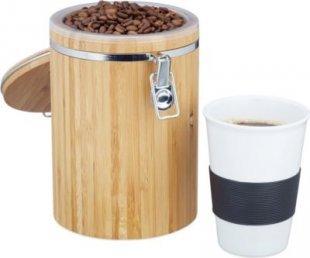 relaxdays Kaffeedose Bambus