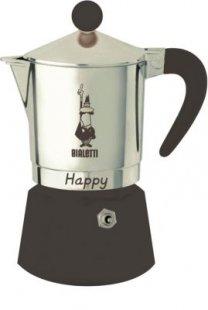 Bialetti Espressokocher Happy 3 Tassen Moka Espresso Kocher Espressomaschine Bialetti Aluminium Espressokocher
