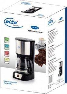 Elta Edelstahl Kaffeemaschine Filter Kaffee Maschine Glaskanne Kaffeeautomat