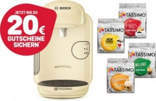 Bosch TASSIMO VIVY 2 Kapselmaschine + 20 EUR Gutscheine* + 4x T-Discs limitiert Bosch TASSIMO VIVY 2 + 4x TDisc City Range