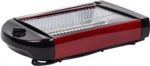 MELISSA Flachtoaster Toast Fläche: 24 x 18,50 cm, Rot metallic