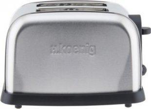 H.koenig TOS7 2 Scheiben Edelstahl Toaster 850W