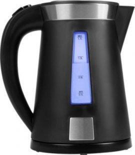 MEDION® Wasserkocher MD 17022, 2.200 Watt, 1,7 Liter Fassungsvermögen, verdecktes Heizelement, automatischer Abschaltung, schwarz