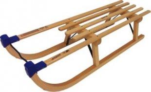Davos Holzschlitten 100cm Rodel Holz massiv Schlitten Rodelschlitten 80kg