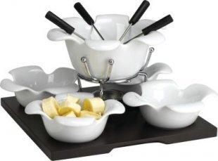 Domestic 923530 Spezialitäten-Schoko Fondueset, weiß, 11-teilig (1 Set)