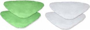 Original Ersatztücher Set für Clever Clean Ultimate Fenster Sprühmop 4tlg. (2x grün, 2x weiß)