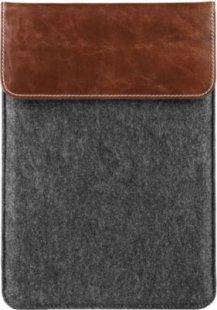 Filz Tasche mit echtem Leder für Tablets bis 10,1´´ MEDION® (MD 90218)