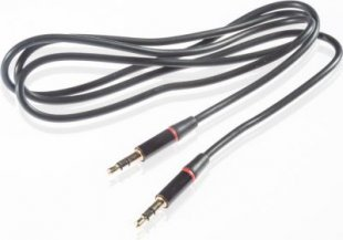 Poppstar HQ Audio Klinkenkabel, schwarz