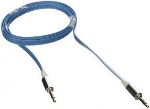 Poppstar 3,5mm Audio Klinken-Kabel, blau