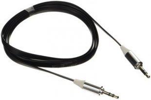 Poppstar 3,5mm Audio Klinken-Kabel, schwarz