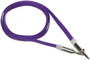 Poppstar 3,5mm Audio Klinken-Kabel, lila