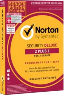 Norton Software Security Deluxe 2+1 Device