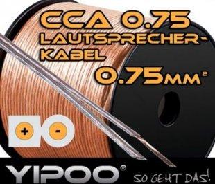 Yipoo Lautsprecherkabel 2x 0.75mm, in verschiedenen Längen Länge: 10m