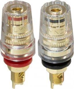 Lyndahl LKPA070 Highend Lautsprecherterminal, mit Verdrehschutz Farbe: Schwarz