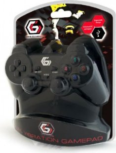 Gamepad Gembird USB Gamepad Dual Vibration 10 Tasten 2 Stick