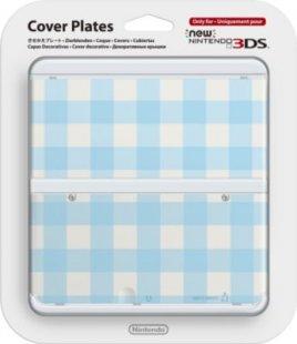Zierblende Nintendo Cover 013 Blau-Weiß Kariert (3DS)