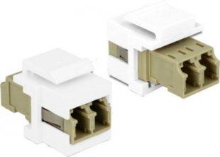 DeLOCK Netzwerk-Zubehör Keystone Modul LC Duplex Buchse > Buchse