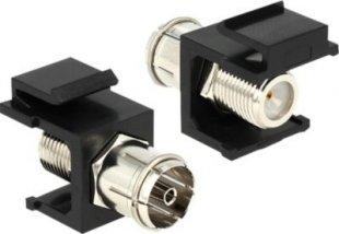 DeLOCK Netzwerk-Zubehör Keystone Modul IEC Buchse > F Buchse