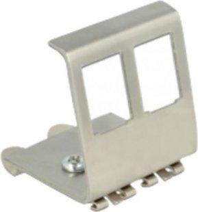 DeLOCK Keystone-Modul Halterung für Hutschienen 2 Port