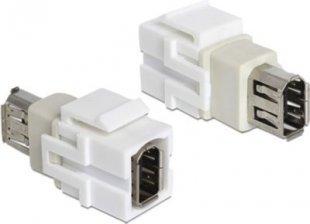 DeLOCK Adapter Keystone Modul FW 6 Pin Buchse > FW 6 Pin Buchse