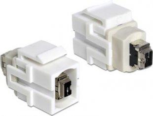 DeLOCK Adapter Keystone Modul FW 4 Pin Buchse > FW 4 Pin Buchse