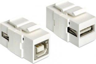 DeLOCK Netzwerk-Zubehör Keystone Modul USB 2.0 A Buchse > USB 2.0 B Buchse