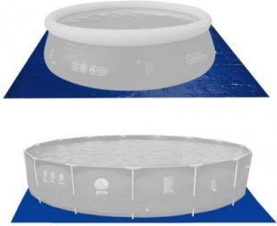Jilong Pool Bodenplane 270x270 cm Bodenschutzplane Schutzplane Bodenfolie Schutzfolie gegen Poolboden Beschädigung, Unterlage für Pool Schwimmbecken Planschbecken Garten Schwimmbad