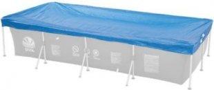 Jilong Pool-Abdeckung rechteckig Abdeckplane für Frame Pool Gr. 259x170 bis 258x179 cm Stahlrohr Schwimmbecken Stahlrahmen Schwimmbad Cover