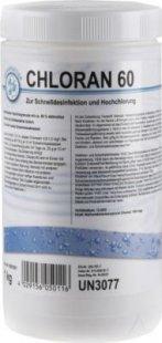Chloran 60 Granulat 1Kg Schnelldesinfektion und Hochchlorung