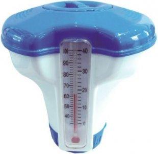 Jilong Chlor-Dosierer Ø 12,7 cm Pool Dosierschwimmer mit Thermometer Schwimmbecken Chemikalienspender für Schwimmbad Chlor Tabletten Ø 2,5 cm