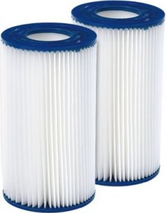 Jilong Pool Filter Catridge No. III - Filter im 2er Set für Poolpumpe, Kartuschenfilter Ø 106x203 mm, Innendurchmesser Ø 52 mm für Schwimmbecken Schwimmbad Spa Whirpool Pumpe